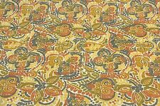 """RICHLOOM DESTINY TERRACOTTA FLORAL OUTDOOR FURNITURE FABRIC BY THE YARD 54""""W"""
