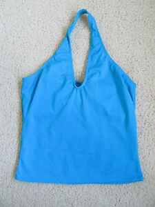 New Women's Balera Dancewear Dance Halter Top Peacock Blue LA Adult Large MT2401