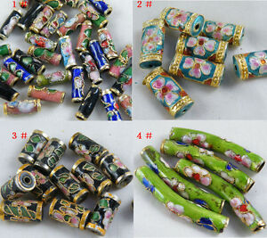 20/200pcs Cloisonne Enamel Nice Tubes 4sizes-1 O72