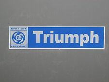 Triumph British Leyland Sign Tr6 Tr4 Tr250 Tr3