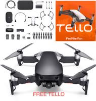 DJI Mavic Air - Onyx Black Drone - Fly More COMBO - FREE TELLO