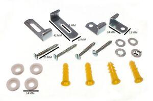 Spiegel Clip Set Verstellbar Set Mit 4 & Schrauben und Anleitung 3 Sets Von 4