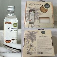 Thai Coconut Beauty Set Phutawan 100% Natural Coconut Oil ฺSoap Boby Scrub Skin