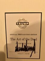RARE - Signed Donald Trump Official 2016 Election Book