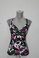 Anne Cole Women's Twist Front Underwire Cup Sized Tankini Swim Top, Bolo Babe Gr