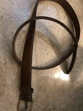 SAS Dark Brown Genuine Leather Men's Belt Sz 40 Made In USA Used