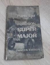Fordson Super Major Traktoren (1960) Ersatzteilliste