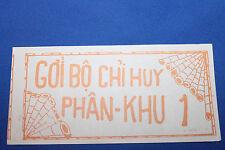 New ListingOriginal Vietnam War S. Vietnam Army Issued Nva-Vc Safe Conduct Pass, Leaflet