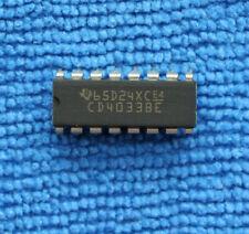 5pcs New CD4033BE DIP16 Decimal Counter IC Logic Chip