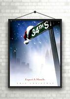 Christmas Snowman Winter Scene Large Poster Art Print Gift A0 A1 A2 A3 A4 Maxi