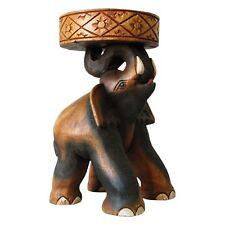 Elefantentisch Massivholz Handarbeit Dekoration Blumenständer
