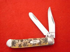 """Case XX USA 6.52154 SS 2.5"""" 2 Blade Autumn Leaves Tiny Trapper 2005 Knife MINT"""