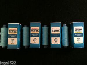 (4) Listerine  Ultraclean mint floss professional refill spools Bulk Lot