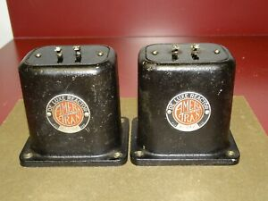 Pair, AmerTran Type L-217 Deluxe Reactor Choke Transformers for Tube Amp