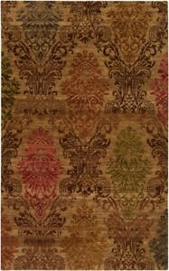 Surya Hand Knotted Wool Beige 2x3 Persien Area Rug - Approx 2' x 3'