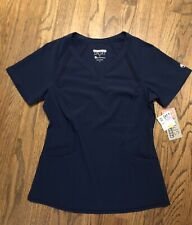 Healing Hands Performance Scrub Top. Navy. Size Small. NWT.