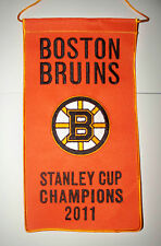 "11"" x 6"" Bruins 2011 NHL Stanley Cup Champs Champions Boston Garden Mini BANNER"