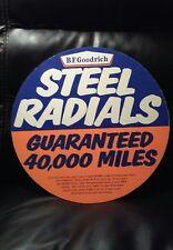 "NOS 1960s BF Goodrich Advertising Sign Cardboard 15 1/2 "" Steel Radials"