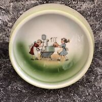 Vintage Children's Porridge Bowl Marked Japan Wonderful Image RARE