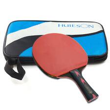 Portable Table Tennis Racket Long Handle Ping Pong Bat Paddle Carrying Case Bag