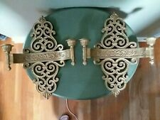 2 Home Interior Hollywood Regency Double Candle Sconces