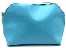 Lot of 3: Lancome Cosmetic Bags Faux Leather  ~ Blue, Yellow