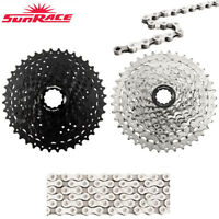 SunRace CSM990 9 Speed 11-40T MTB Bike Cassette Bicycle Chain fit Shimano SRAM