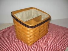 Longaberger Desktop Basket 2002 Dividers Pockets