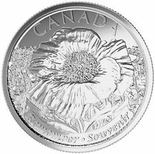 """2015 CANADA POPPY QUARTER 2 x 25¢ COINS """"REMEMBRANCE DAY""""  WAR VETERAN CANADIAN"""