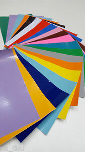 12 VINYL A4 SHEETS STICKERS self adhesive MIXED COLOURS 20x30cm