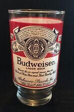 Vintage Budweiser Beer Logo 12oz Footed Drinking Glass Tumbler
