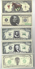 NOVELTY NOTE LOT - FIVE (5) DIFFERENT NOTES
