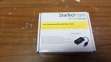Lot of 10 StarTech.com ST4300MINU3B Black 4 Port Mini USB 3.0 Hub