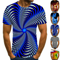 Fashion 3D Print T-Shirt Men Summer Casual Round Neck Short Sleeve Tee Tops New