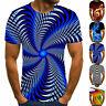 Fashion 3D Print T-Shirt Men Summer Casual Round Neck Short Sleeve Tee Tops New