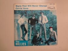 "HOLLIES: Carrie Anne-Signs That Will Never Change-Italy 7"" 67 Parlophon QMSP PSL"