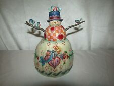 Jim Shore Winter'S Song Snowman #112250 Enesco Excellent 8.5'' Tall