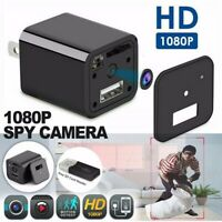 Mini Charger Spy Security Camera 1080P Full HD Camcorder Hidden DVR Loop Record