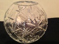 Hand Cut 24% Leaded Crystal Glass Bowl Vase Caprice and Lismore Made In Poland