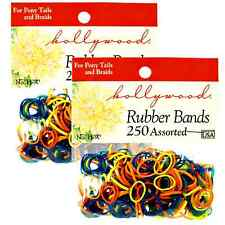 Hair Rubber Bands PonyTail Braids 500 pcs Hollywood Multi-Color B2G1 FREE_61-021