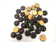 36 preciosa round cabascons,18mm siam/goldfoiled