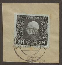 Numeral Cancellation Single European Stamps