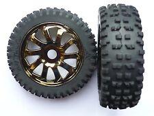 Ansmann Racing 1:8 Ahumado Cromo Buggy Ruedas y Neumáticos 214000006 (par)