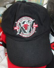 5d1e175aae6 Bulls 20th Anniversary 1st Championship Black Baseball Cap Embroidered  Chicago