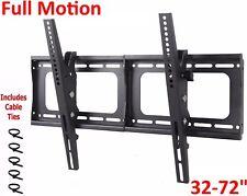 "TV Wall Mount Full Motion Articulating Bracket 32 40 42 50 55 60 65 70 72"" LCD"