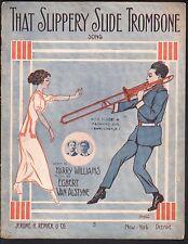 That Slippery Slide Trombone 1912 Large Format Sheet Music