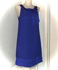 H&M Womens Classic Blue Sleeveless Knee-Length Shift Dress Size 4 Work Tea Party