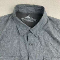 Croft&Barrow Quick Dry Button Up Shirt Mens Large Gray Short Sleeve Outdoors