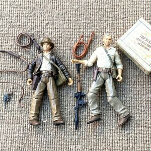 2PCS Indiana Jones 3.75in. Kingdom of the Crystal Skull Movie Action Figures Toy