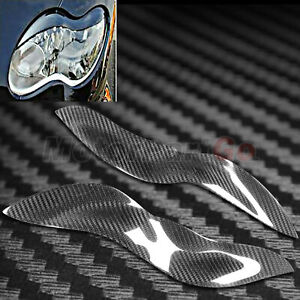 Carbon fiber Head light Eyelid Eyebrow Cover For Mercedes Benz Smart W450 03-06